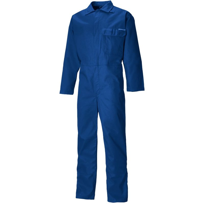 Image of Adults Unisex Everyday Flame Retardant Coverall (M) (Royal Blue) - Dickies