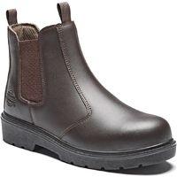 Dickies Chelsea Safety Dealer Work Boots Brown (Sizes 7-12) Men's Steel Toe Cap