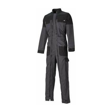 Combinaison de travail double zip Grafter Duo Tone - 100 % Coton - Gris et noir - Taille S - Dickies