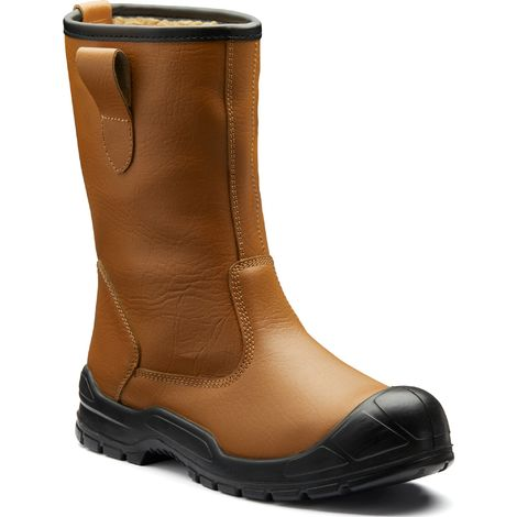 8847657fb15 Dickies Dixon Fur Lined Safety Rigger Work Boots Tan (Sizes 3-12)