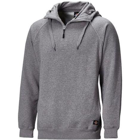 Dickies Elmwood Work Hoodie Hooded Jumper Grey (Sizes M-XXXL)