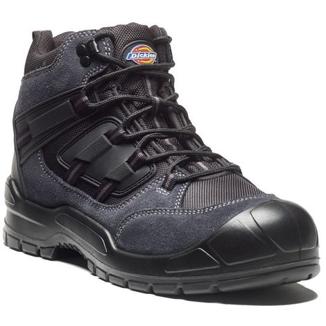 Dickies Everyday Safety Work Boots Grey & Black (Sizes 3-14)