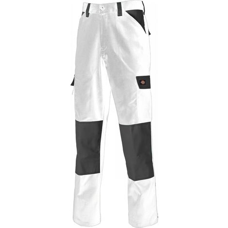 Dickies Everyday Work Trousers White & Grey (Various Sizes)