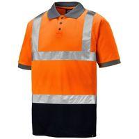 Dickies Hi-Vis Taped Two Tone Polo Shirt Orange & Navy (Sizes S-XXXXL)