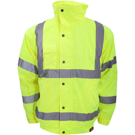 Dickies Hi-Vis Waterproof Bomber Jacket Yellow (Sizes S-XXXXL)