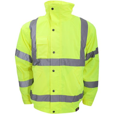 Dickies High-Visibility Bomber Jacket / Mens Workwear