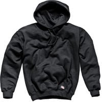 Dickies Hoody Hooded Plain Sweatshirt Black SH11300 Hoodie - L