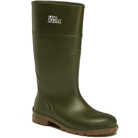 Dickies Landmaster Non-Safety Lightweight Wellington Boots Green (Sizes 4-13)