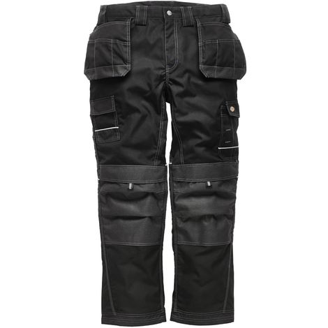 Dickies Mens Eisenhower Max Workwear Trousers (Short, Regular and Tall) (30R) (Black)