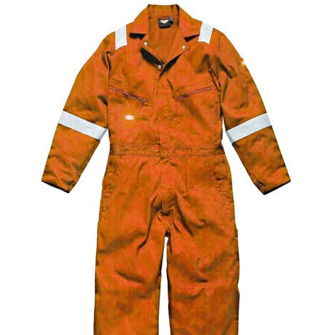 Dickies Mens Hi-Vis Stripe Workwear Coverall