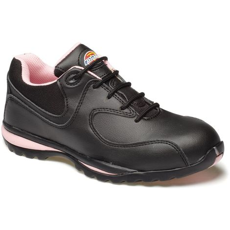 230896202c0 Dickies Ohio Womens Safety Work Trainer Shoes Black & Pink (Sizes 3-8)