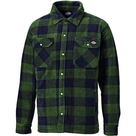 Dickies Portland Long Sleeved Work Shirt Green (Various Sizes)
