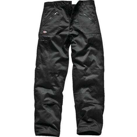 Dickies WD814 Redhawk MEN'S Lightweight Polycotton Action Trousers - Black 36 I