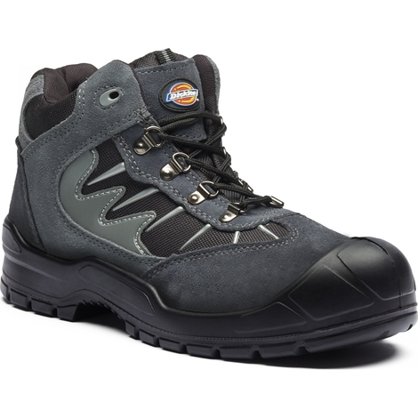 Sizes 7-12 Men/'s Steel Toe Cap Shoes Dickies Trenton Safety Work Boots Black