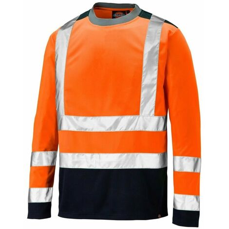 Dickies - T-shirt manches longues bicolore haute visibilité Two Tone