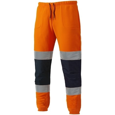 detailed pictures the latest shop for best Dickies Two Tone Hi-Vis Jogger Pants Orange & Navy - S