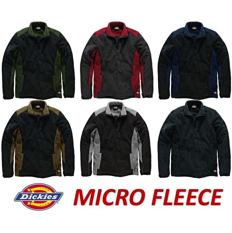 Sizes S-XXXL Dickies Two Tone Micro Fleece Royal Blue /& Black