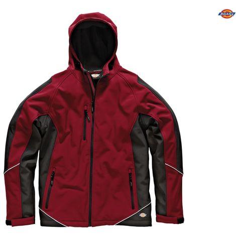 Dickies Two Tone Waterproof Softshell Work Jacket Red & Black (Sizes S-XXXL)