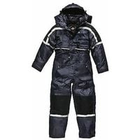 Dickies Waterproof Padded Overalls Mens Coverall WP15003 - Navy Blue - L