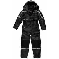 Dickies Waterproof Padded Overalls Mens Coverall WP15005 - Black - L