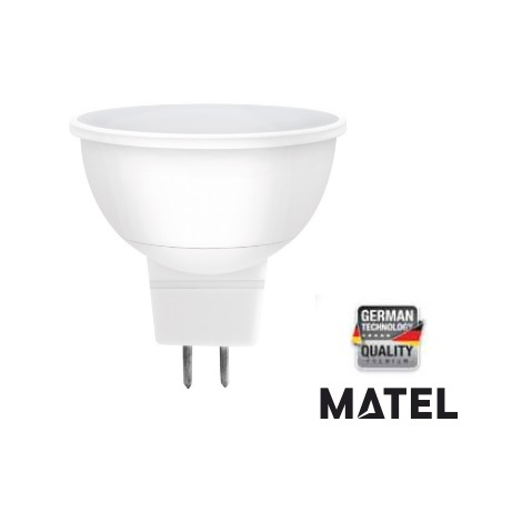 Dicroica Led SMD 3W MR16 300Lm 12V Matel