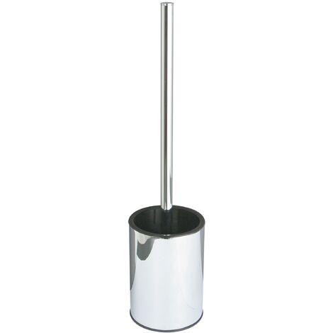 Dietsche Varuna WC-Standgarnitur Rundkopfbürste, schwarz, Rostfrei, Kunststoffeinsatz, entnehmbar, Kunststoffbodenring, fußbodenschOneNd, Bürstenkopf austauschbar 763210