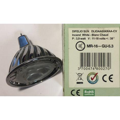 Difelio SUN DLIOAA004XAA-CV bulb LED GU5.3 3.9W 11-18v 38