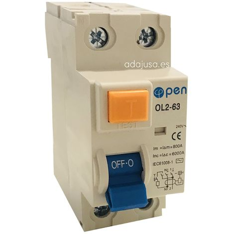Diferencial 2 polos 25A 300mA - O.Electric