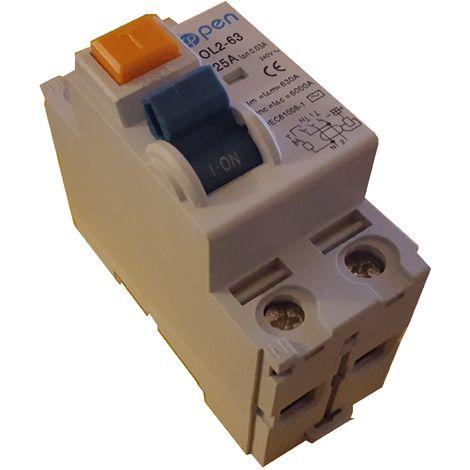 Diferencial 2 polos 40A 30mA Clase A inmunizado - O.Electric