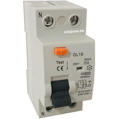 Diferencial 2 polos 63A 30mA OL19 - O. Electric
