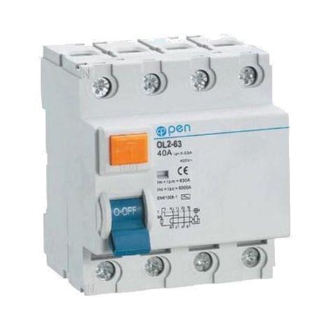 Diferencial 4 polos 25A 30mA - O.Electric
