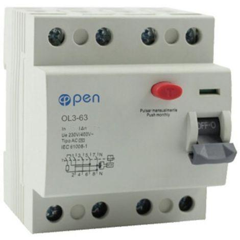 Diferencial 4 polos OL3 63A 30mA - O.Electric