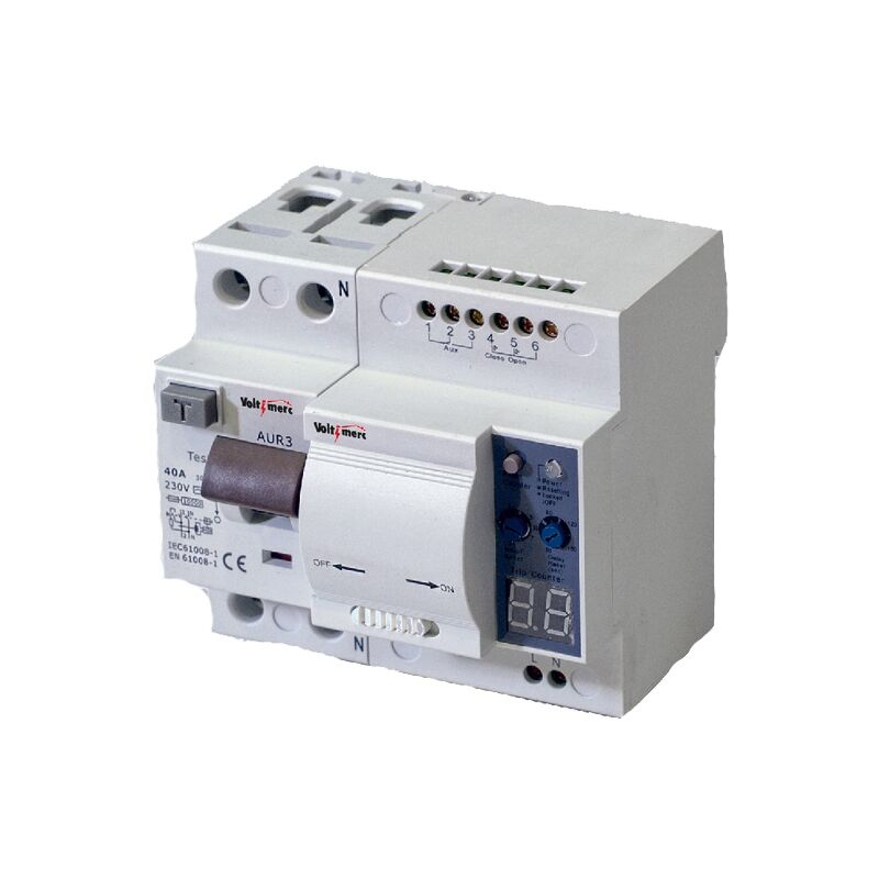 Interruptor diferencial auto rearmable 6Ka 2P 30ma 40A