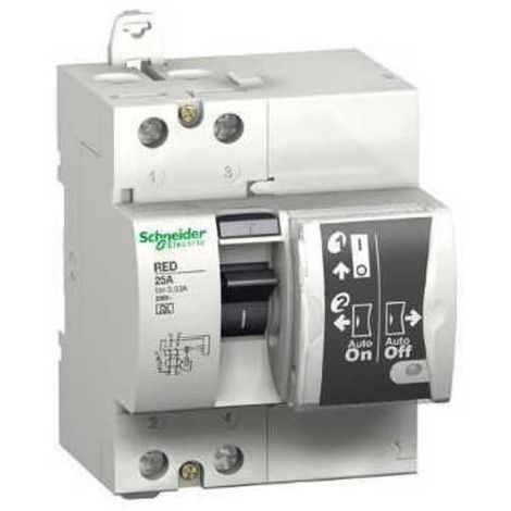 Diferencial rearmable RED 2P 40A 30mA Schneider 18683