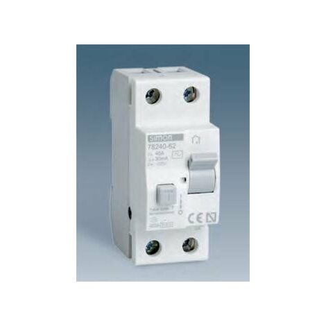 Diferencial SIMON 78240-62 1P+N 40 Amps.30mA