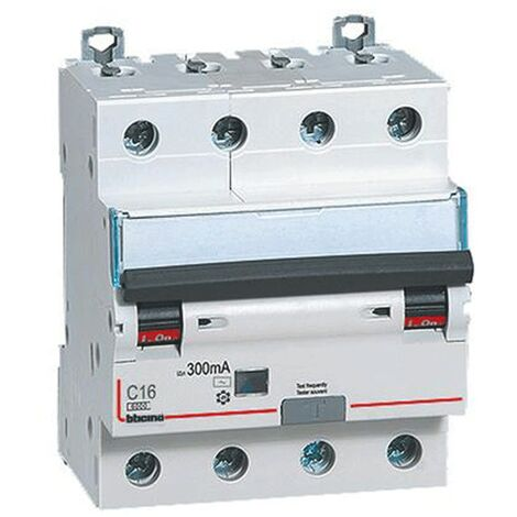 Différentiel Magnetothermic commutateur Bticino 4P 16A 300mA Type AC 6 ka, 4-gang,
