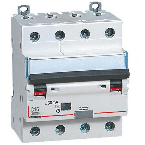 Différentiel Magnetothermic commutateur Bticino 4P 16A 30mA AC-Type, 4.5 kA 4 Modules