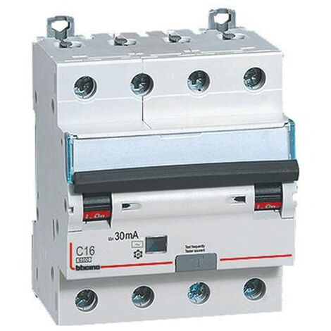 Différentiel Magnetothermic commutateur Bticino 4P 16A 30mA Type AC 6 ka, 4-gang,