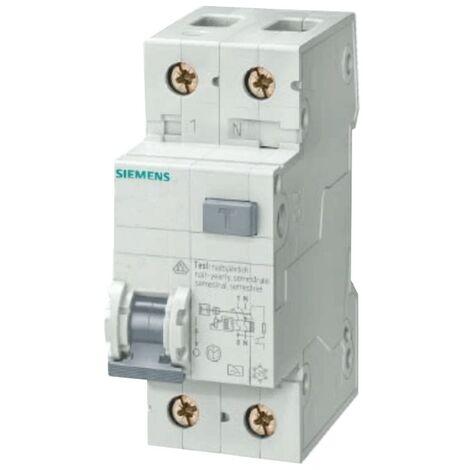 Différentiel Magnetothermic Siemens interrupteur 1P+N 16A 30mA Type AC 6 ka, 2-gang