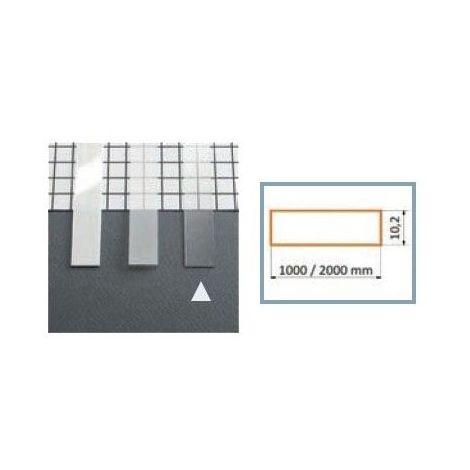 Diffuseur 10.2 mm Dépoli pour profilé LED 1000 mm