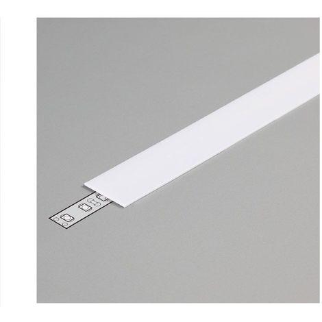 Diffuseur Blanc 19,2mm x 2000 mm pour profilé LED