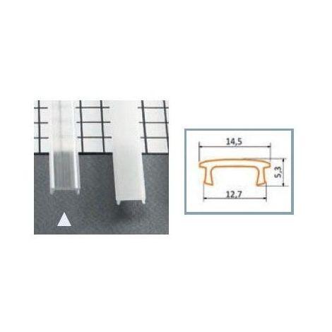 Diffuseur Clip 15.4 mm Transparent pour profilé LED 1000 mm