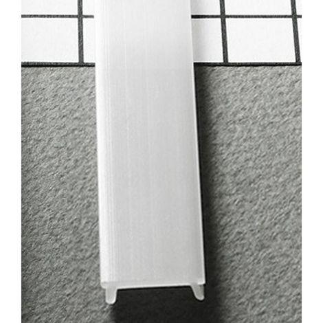 Diffuseur CLIP Blanc 17,6 mm x 2000 mm pour profilé LED