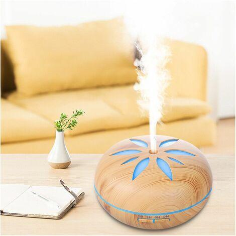 Diffuseur d' huiles essentielles, humidificateur ultrasonique 500ml 230V FLO Light bluetooth, télécommande, 7 couleurs - D-Work