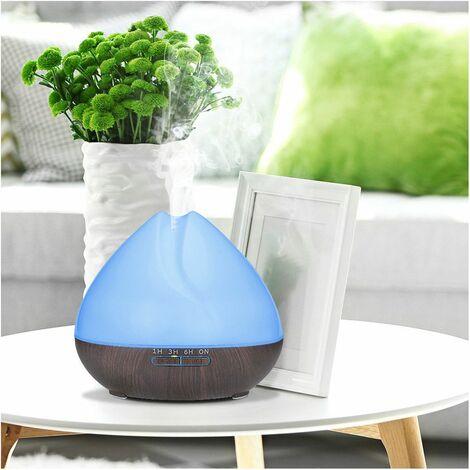 Diffuseur d' huiles essentielles, humidificateur ultrasonique 500ml 230V PEA Dark bluetooth, télécommande, 7 couleurs - D-Work