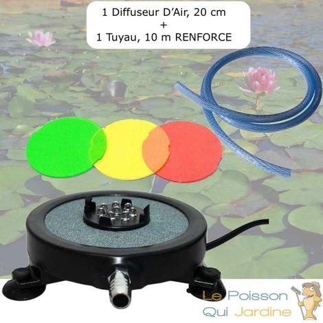 Diffuseur D'Air 2 En 1, Disque à LED Intégrée, 20 cm + 1 Tuyau RENFORCE De 10 m