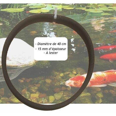 """main image of """"Diffuseur D'Air Poreux PREMIER PRIX 40 cm. à Lester Pour Bassins De Jardin - Noir"""""""