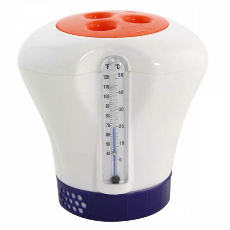 Diffuseur de chlore ajustable avec thermomètre