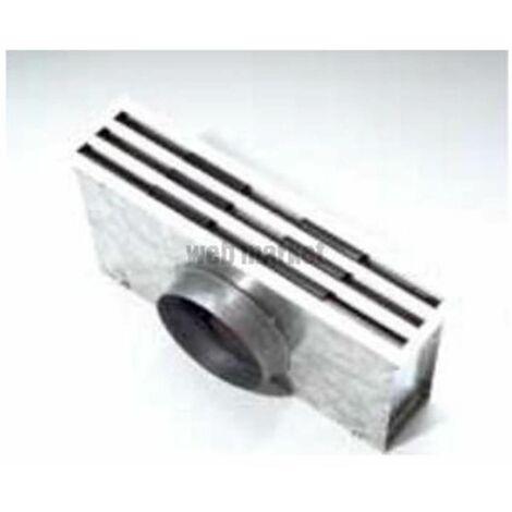 Diffuseur DFA - 3F + Plénum LG 900 - Diffuseur linéaire à 3 fentes avec plénum isolé - Blanc