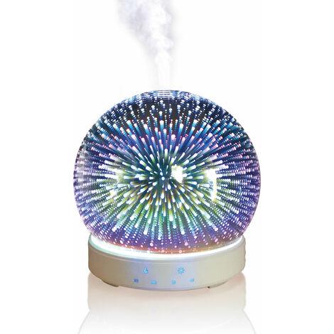 Diffuseur D'huiles Essentielles 200ML Humidificateur d'air Ultrasonique Diffuseur d'arôme Brume Fraîche Aromathérapie avec Lumière Couleurs LED